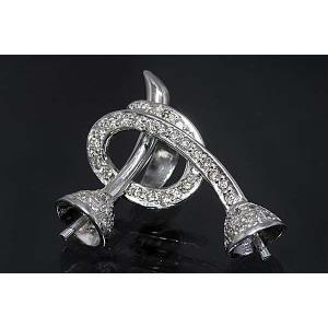 〔限定品〕A368-15g0088【2個 丸珠用】ダイヤ入りK18WGバチカン|kiho