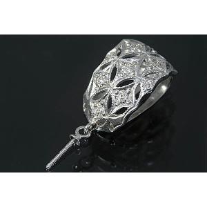 〔限定品〕k-2-15g0156【丸珠用】ダイヤ入りK18WGバチカン|kiho