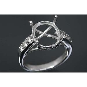 ki92【オーバル12ミリ×10ミリ】ダイヤ入りリング空枠|kiho