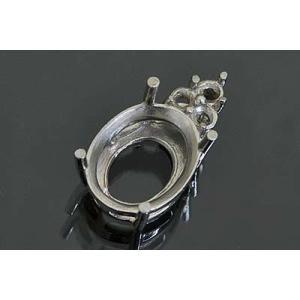 kj057【オーバル11ミリ×9ミリ】ダイヤ入りペンダント空枠|kiho