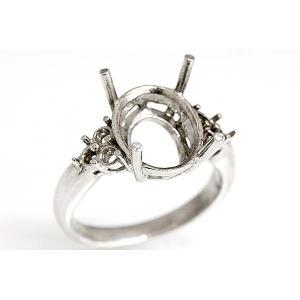 kj060【オーバル12ミリ×10ミリ】ダイヤ入りリング空枠|kiho