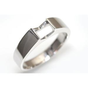 〔限定品 サンプル〕kw0004ki49-sample【プリンセス5ミリ×5ミリ】Silver925タンクリング空枠|kiho