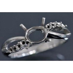 kw0025ki145【オーバル6ミリ×4ミリ】ダイヤ入りリング空枠|kiho