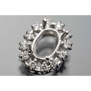 nt64【オーバル6ミリ×4ミリ】ダイヤ入りペンダント空枠|kiho