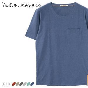 ヌーディージーンズ Nudie Jeans ポケットTシャツ カットソー メンズ オーガニックコット...