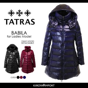 タトラス TATRAS ダウンコート レディース 2wayフード付き セミロング ダウンジャケット BABILA|kiiroya-import