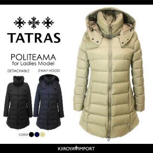 タトラス TATRAS ダウンコート レディース 2wayフード付き セミロング ダウンジャケット POLITEAMA|kiiroya-import