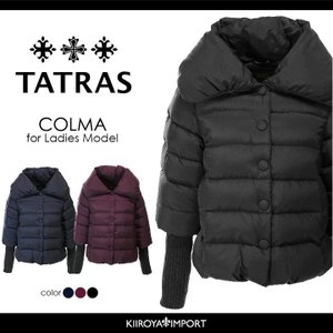 タトラス TATRAS ダウンジャケット レディース ビッグカラー 袖リブ切替 ショート丈 COLMA|kiiroya-import