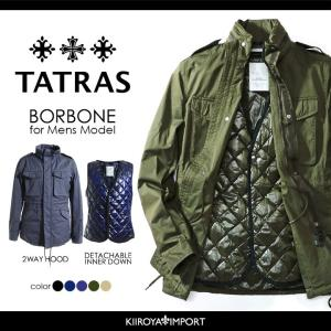 タトラス TATRAS フィールドジャケット メンズ 取り外し可ダウンライナー付き 収納可フード付き...