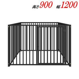 犬のサークル 9−4Sグレー 屋根なし スチール製 室内屋外兼用 サークル ゲージ ケージ 小屋 ハウス いぬ イヌ 大型 中型  |kiitos-shop