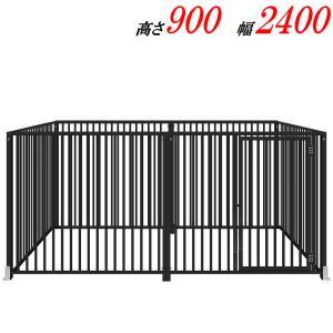 犬のサークル 9−6Sグレー 屋根なし スチール製 室内屋外兼用 犬 サークル ゲージ ケージ 小屋 ハウス いぬ イヌ 大型 中型 |kiitos-shop