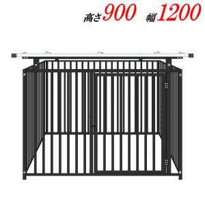 犬のサークル 9−4SYグレー 屋根付  スチール製 室内屋外兼用 犬 サークル ゲージ ケージ 小屋 ハウス いぬ イヌ 大型 中型 |kiitos-shop