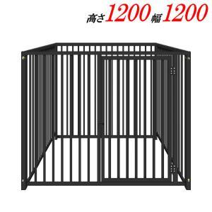 犬のサークル 12−4Sグレー トールタイプ 屋根なし スチール製 室内屋外兼用 犬 サークル ゲージ ケージ 小屋 ハウス いぬ イヌ 大型 中型 |kiitos-shop