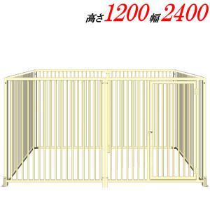犬のサークル 12−6Sアイボリー トールタイプ 屋根なし スチール製 室内屋外兼用 犬 サークル ゲージ ケージ 小屋 ハウス いぬ 大型 中型|kiitos-shop