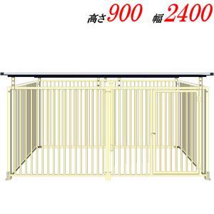 犬のサークル 9−6SYアイボリー 屋根付 スチール製 室内屋外兼用 犬 サークル ゲージ ケージ 小屋 ハウス いぬ イヌ 大型 中型 |kiitos-shop