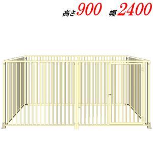 犬のサークル 9−6Sアイボリー 屋根なし スチール製 室内屋外兼用 犬 サークル ゲージ ケージ 小屋 ハウス いぬ イヌ 大型 中型 |kiitos-shop