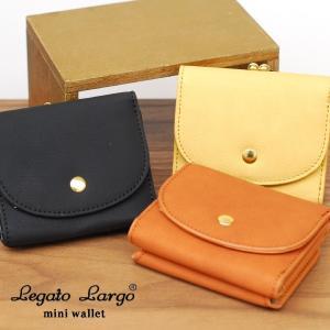 76736aae3902 Legato Largo レガートラルゴ 財布 レディース 三つ折り がま口 かわいい おしゃれ 大人 プランプフェイクレザー メール便送料無料