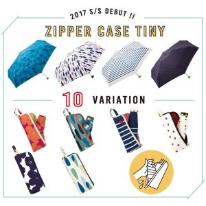 [w.p.c]晴雨兼用 折り畳み傘 zipper case tiny