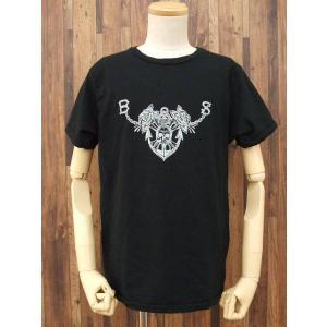 BLACK SIGN/ブラックサイン/プリントTシャツ/42/黒【メンズ】【中古】【ストリート】【geejee_ss】6-0425S∞|kiitti
