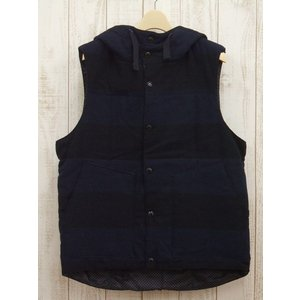 Engineered Garments/エンジニアド ガーメンツ/Hooded Paded Vest/中綿ベスト/ボーダー/13FW【中古】【メンズ】【geejee_aw】7-1007A∞|kiitti