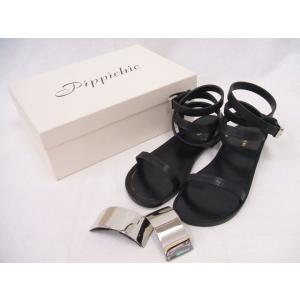 PIPPICHIC/Plate sandal flat 15/プレートサンダルフラット/ピッピシック/36.5【レディース】【中古】【geejee_ss】9-0416S◎|kiitti