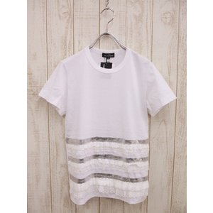 tricot COMME des GARCONS/レース付きカットソー/トリココムでギャルソン【レディース】【中古】【geejee_ss】9-0327S▲|kiitti