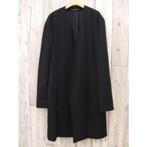 Yohji Yamamoto/ヨウジヤマモト/No Collar Jacket Wrinkled Gabardine/ノーカラージャケット/18AW/MF69137【メンズ】【中古】【geejee_aw】8-1204A∞|kiitti