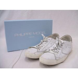 PHILIPPE MODEL/フィリップモデル/スニーカー/白/43【メンズ】【中古】【geejee_1997】9-0703G☆|kiitti