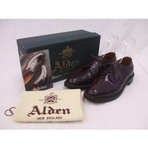 Alden/オールデン/975/コードバン/ドレスシューズ/ロングウィングチップ/バーガンディ/6D【メンズ】【中古】【geejee_1997】9-0601G∞|kiitti