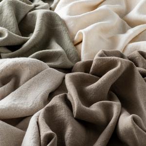 生地 布 | 洗いこまれた綾織リネンウール|kijinomori|06