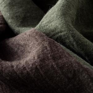 生地 布 | 洗いこまれたベルギーリネンウールビエラ1/40番手|kijinomori|02