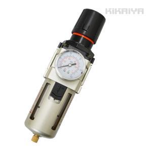 レギュレーター付エアーフィルター エアーレギュレーター 1/2 ウォーターセパレーター エアードライヤー kikaiya-work-shop