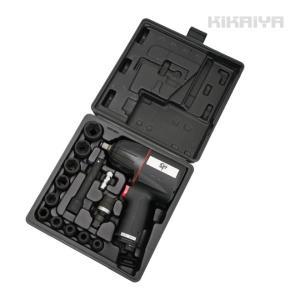 エアーインパクトレンチ セット 1/2インチ 超軽量 2.1kg ソケット付 専用ケース付 1年保証 KIKAIYA kikaiya-work-shop