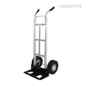アルミ台車 150kg 運搬車 軽量 ノーパンクタイヤ アルミチャンネル構造 (個人様は営業所止め) KIKAIYA|kikaiya-work-shop
