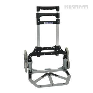 キャリーカート 3輪 アルミ 折りたたみ 階段台車 ゴムバンド付 ノーパンクタイヤ 昇降台車 アウトドア レジャー  KIKAIYA|kikaiya-work-shop