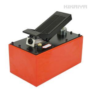 エアー式油圧ポンプ 5.5L スチール製 足踏式 足踏み 油圧ポンプ 油圧シリンダー 6ヶ月保証 KIKAIYA|kikaiya-work-shop
