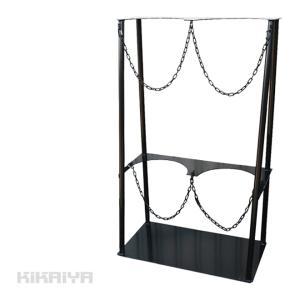 ボンベスタンド2本用(個人様は営業所止め)KIKAIYA kikaiya-work-shop