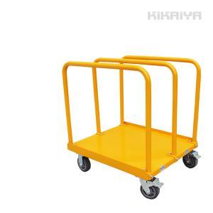 長尺物台車 1000kg 運搬台車 重量物 ブレーキ付き 柵付き(手すり)付き KIKAIYA(個人様は営業所止め)|kikaiya-work-shop