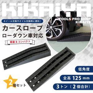 カースロープ ローダウン車対応 2個セット 軽量 コンパクト 整備用スロープ カーランプ ジャッキサポートプラスチックラダーレール KIKAIYA|kikaiya-work-shop