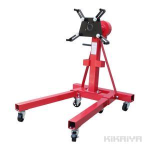 エンジンスタンド 680kg ギア付 1500LBS エンジンメンテナンス エンジンの分解 (個人様は営業所止め) kikaiya-work-shop