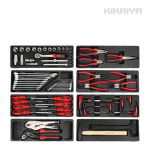 工具セット 65pcs キャビネットにジャストサイズ引き出し用 工具箱 ツールセット DIY 整備工具 KIKAIYA|kikaiya-work-shop