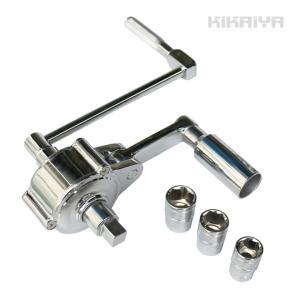ギアレンチセット 乗用車用 16倍 倍力パワーレンチセット ソケット付き 17mm 19mm 21mm アダプター (すご楽)KIKAIYA kikaiya-work-shop