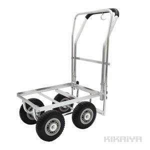 アルミハウスカー ブレーキ付き コンテナ 1個積用 台車 軽量 アルミ運搬車 収穫台車 ノーパンクタイヤ(個人様宛は別途送料/商品代引不可)KIKAIYA kikaiya-work-shop
