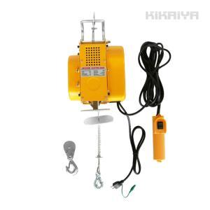 ・取り付けが容易な吊下げ式電動ホイストです  ・吊下げ式なので、ボルト固定などしなくても現場などで直...