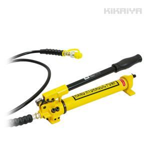 油圧ポンプ 手動式 ダブルポンプ 油圧ホース付き ケース付き KIKAIYA|kikaiya-work-shop