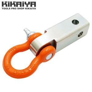 ヒッチメンバー ヒッチレシーバー&バウシャックル レシーバー 3/4インチ Dリング 2インチ 牽引フック ウィンチ ウインチ KIKAIYA|kikaiya-work-shop