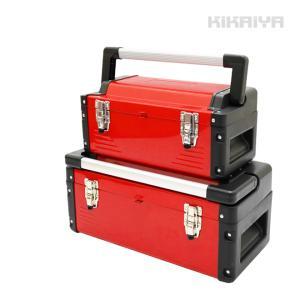 工具箱 大・小 2個セット ツールボックス 軽量 トレイ(中皿)付き ツールキャビネット 道具箱 収納ケース KIKAIYA|kikaiya-work-shop