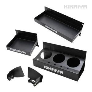 マグネットトレイ 大・小&スプレー缶ホルダー&ペーパーホルダー 4点セット ドライバー挿し兼用 マグネットホルダー 磁石 工具収納|kikaiya-work-shop