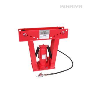 パイプベンダー15トン 油圧式 エアー手動ポンプ兼用 アダプター7個付 パイプ曲げ機(個人様は営業所止め)KIKAIYA|kikaiya-work-shop