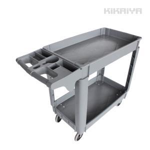 ツールワゴン 台車 250kg 2段 軽量 静音 樹脂製 プラパレ ツールカート KIKAIYA|kikaiya-work-shop